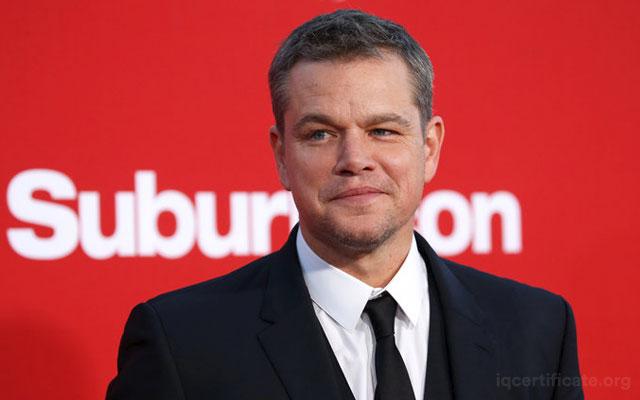 Matt Damon IQ Skoru